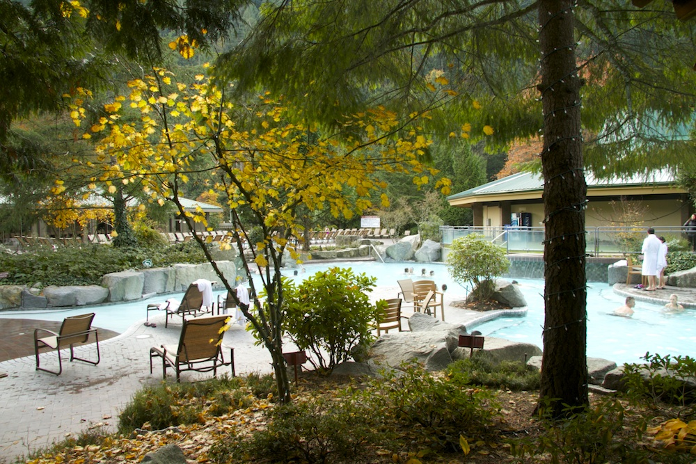 The outdoor pool at Harrison Hot Springs