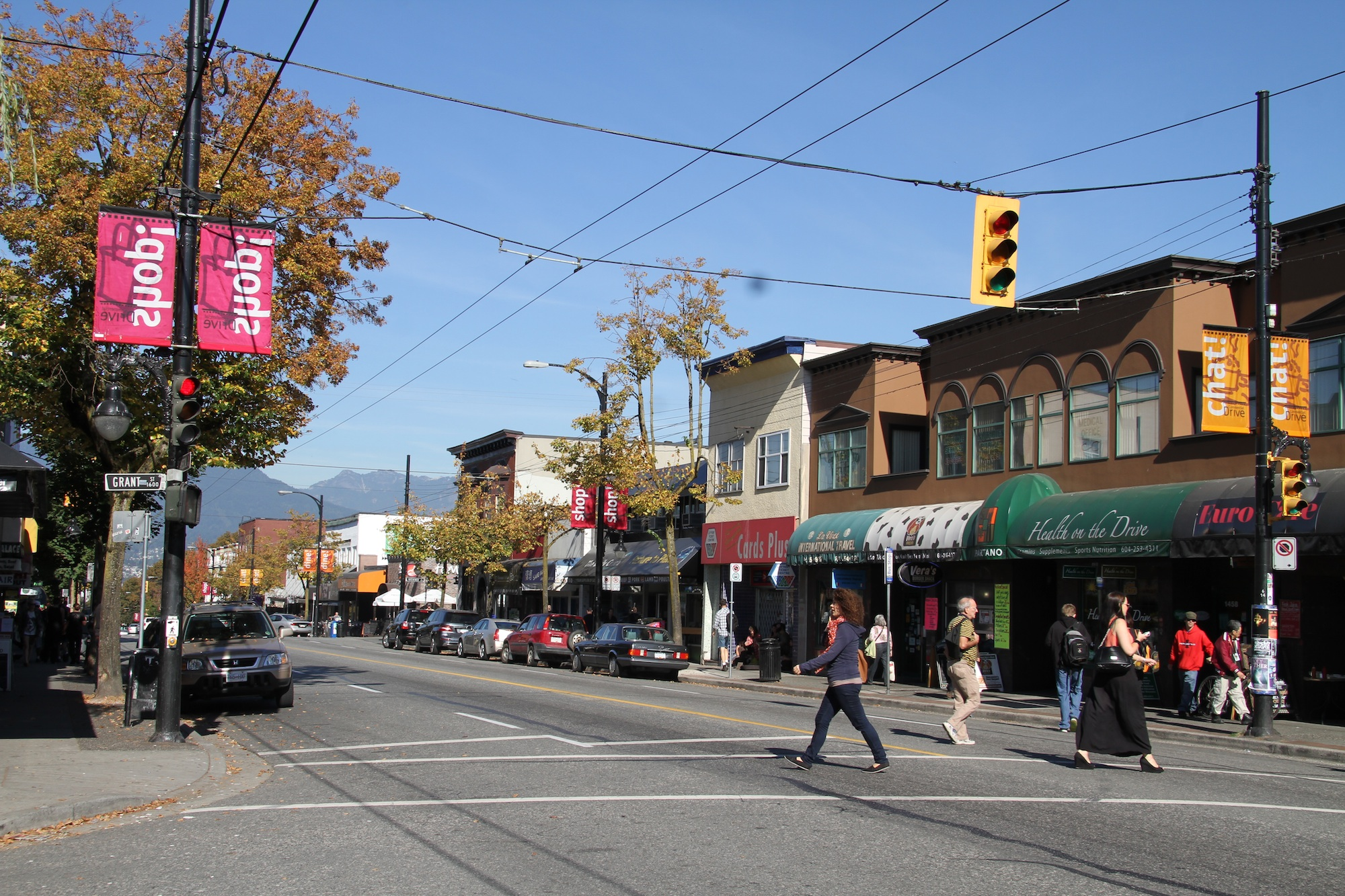 Commercial Drive, Vancouver in October