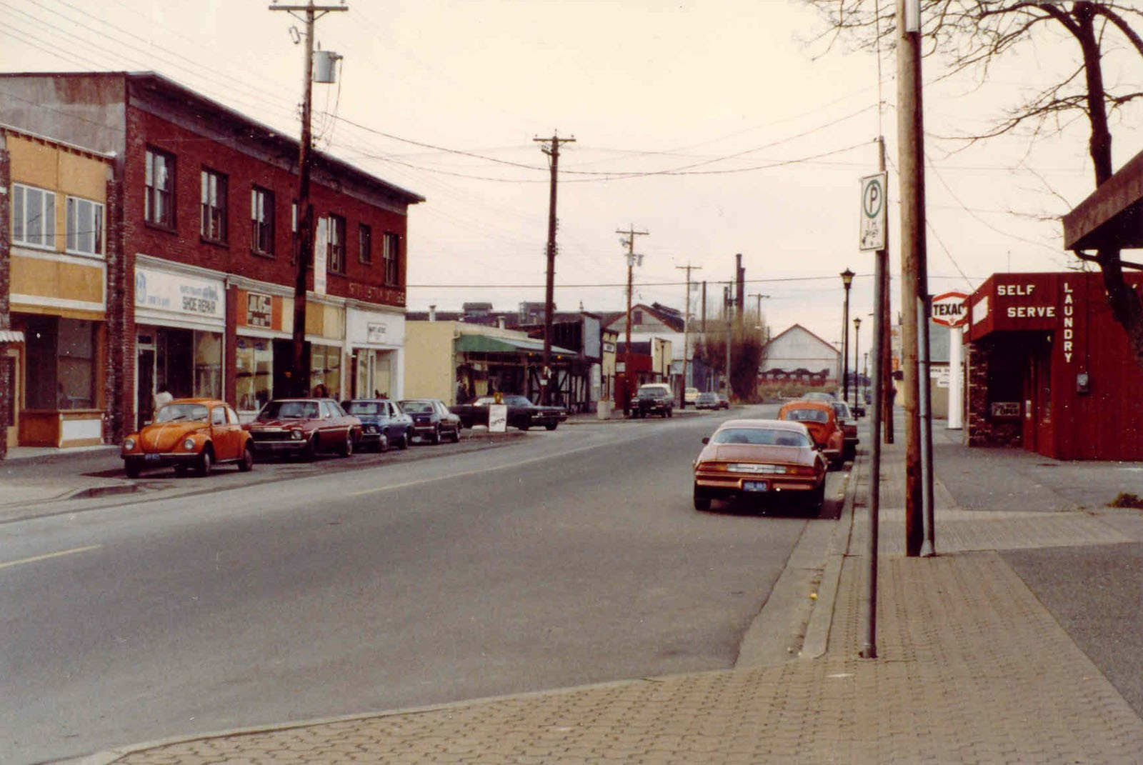 Moncton Street in the early 1980s, Steveston - Richmond, BC, Canada
