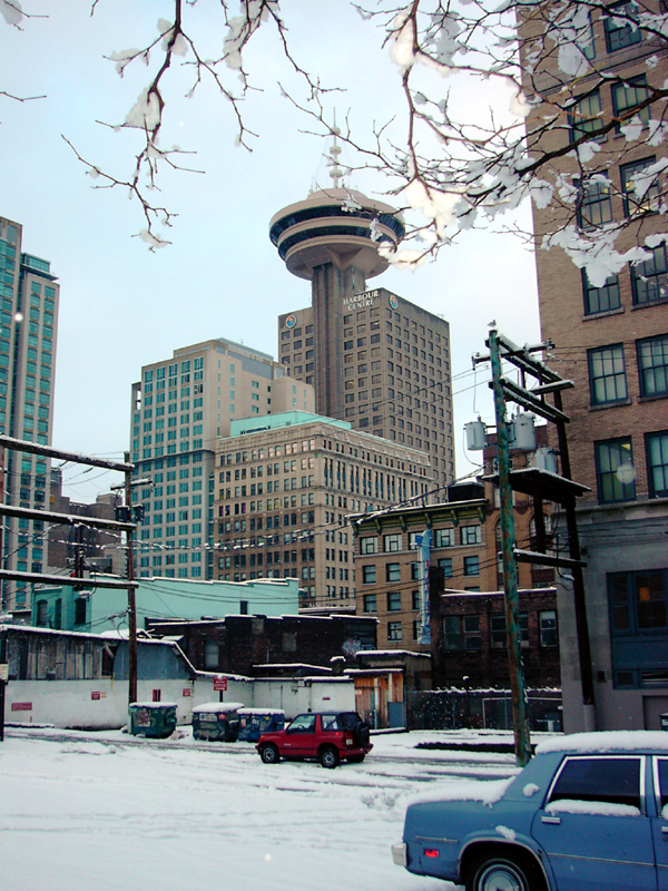 Vancouver in the snow, January 2002