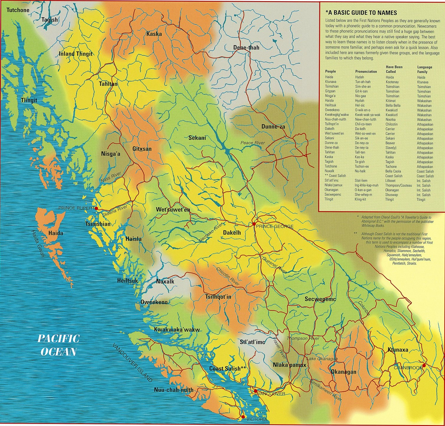BC First Nations Map