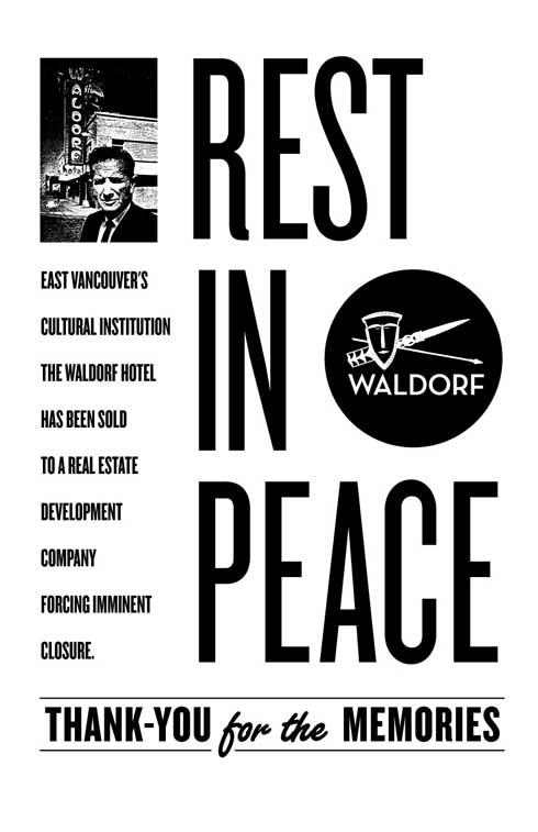 RIP The Waldorf Hotel