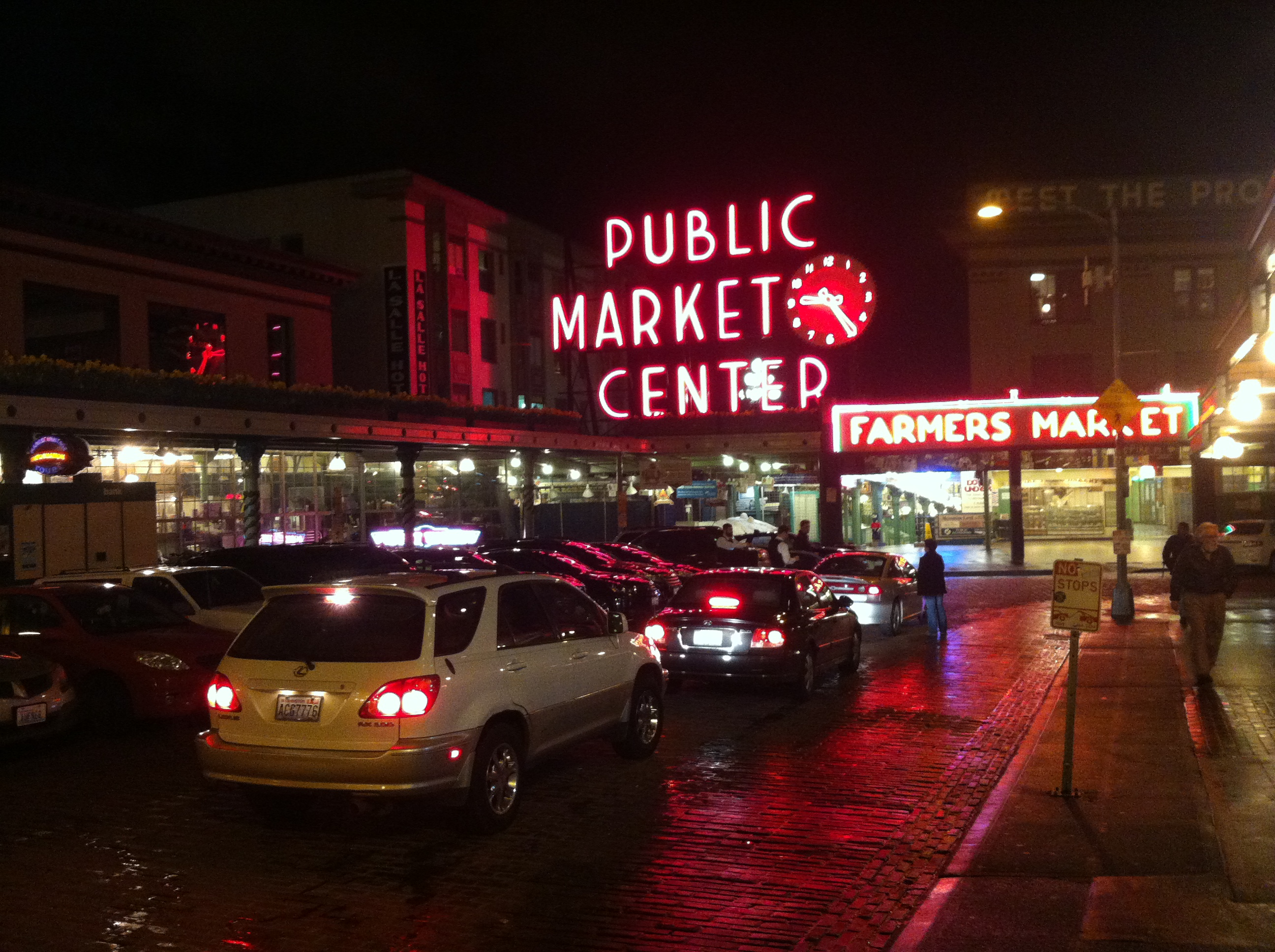 Pike Place Market at night, Seattle - March 15, 2013