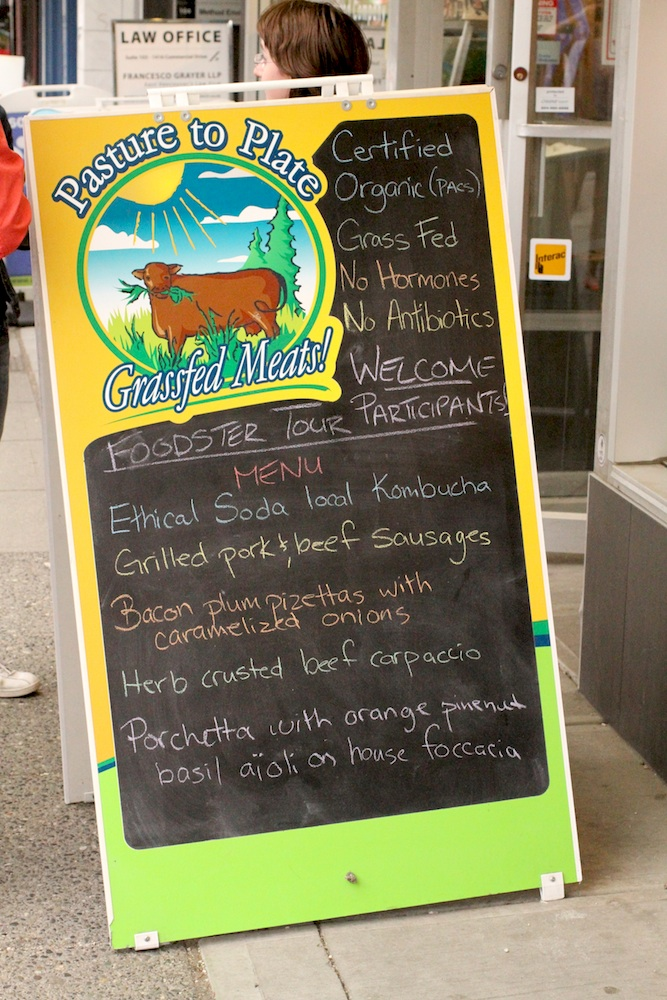 Pasture to Plate's Tasting Plates Vancouver Menu - June 19, 2013