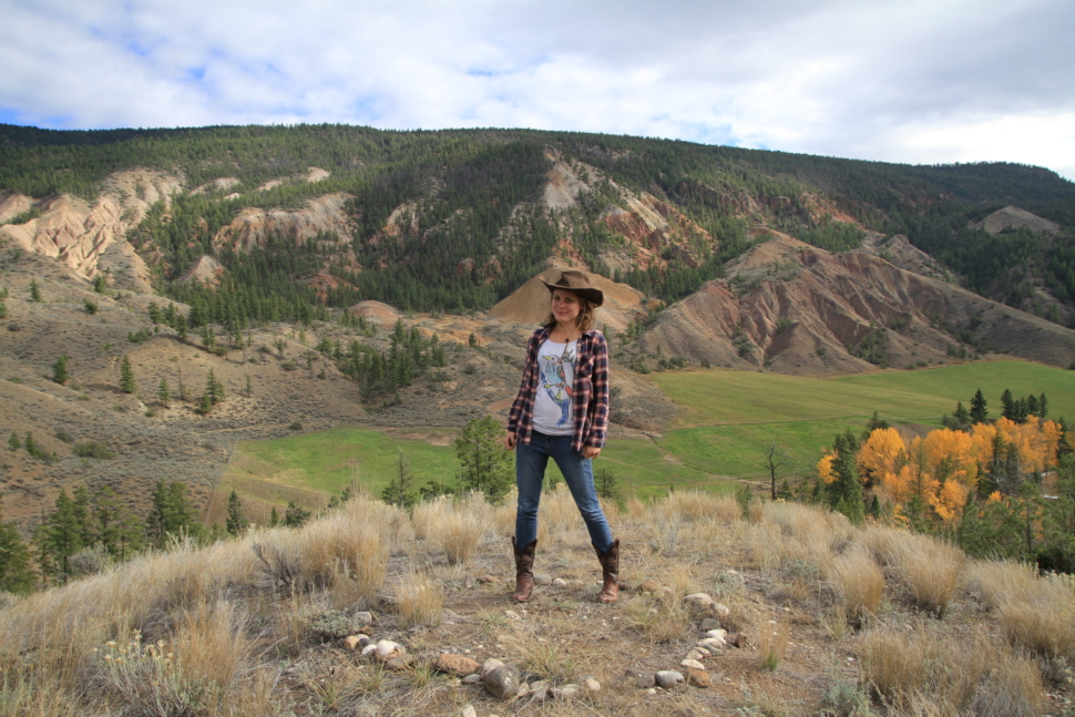 Robyn in the Deadman Valley
