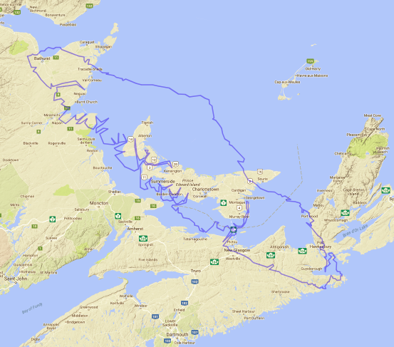 Map of Vancouver Island compared to Prince Edward Island