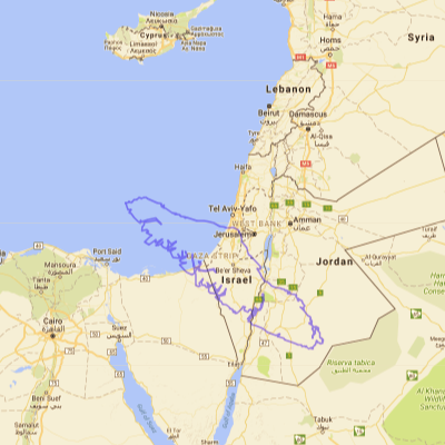 Map of Vancouver Island compared to Israel